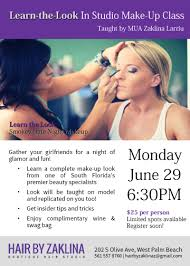 make up classes in learn the look in studio make up class hair by zaklina