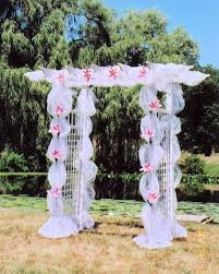 wedding arches decorated with tulle wedding trellis ideas search country party ideas
