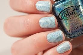 holo chevron nails may contain traces of polish