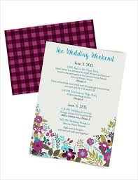 event itinerary template best 25 wedding itinerary template ideas