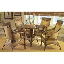 Rattan And Wicker Dining Room Furniture Sets Dining Tables And - Round dining table with wicker chairs