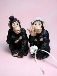 monkey wedding bride u0026 groom wedding cake top