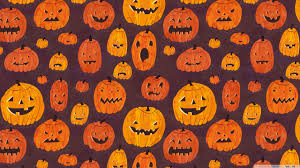 download halloween background music halloween pumpkins pattern hd desktop wallpaper high definition