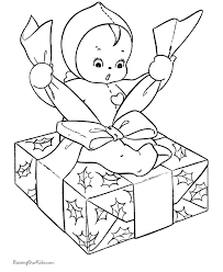 kids christmas coloring pages wrapping gifts