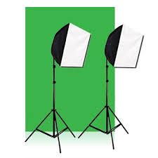 Photography Lighting Studio Green Screen Photo Softbox Lighting Light Kit