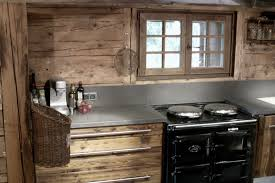cuisine vieux bois wood layout joinery layout and renovation of chalets houses