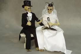skeleton wedding cake topper wedding ideas for fall weddings etsy handmade skeleton cake topper 2