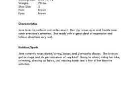 Soccer Resume Samples by Beginner Acting Resume Example Httpjobresumesamplecom887beginner