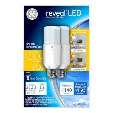 led light bulb 100 watt equivalent ge lighting 36477 reveal led bright stik light bulb with medium