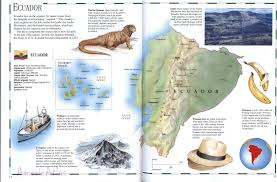Equator Map South America by Ecuador Mapfree Maps Of Us