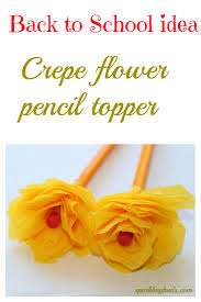 back to idea corn husk flower pencil topper sparklingbuds
