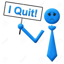 Resume Job Quit by I Quit Sad Man Signboard Stock Photo Picture And Royalty Free
