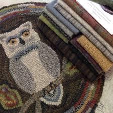 Hooked Rug Patterns Primitive Rug Hooking Kits Designs In Wool
