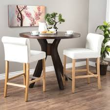 cosmopolitan modern white bicast leather counter stools set of 2