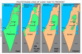 Map Of Israel And Palestine Map Card Of Disappearing Palestine