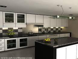 red modular kitchen interiors design