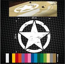 jeep wrangler logo decal military jeep wrangler distressed star hood decal 20 u2033 tj jk