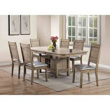 rustic oak dining table acme ramona dining table rustic oak walmart com