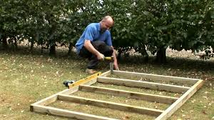 how to build a wooden base for a shed youtube