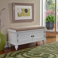 bermuda brushed white 47 25 inch wide upholstered storage bench