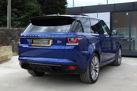 blue range rover used land rover range rover sport 5 0 s c v8 svr station wagon 4x4