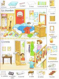 vocabulaire de la chambre la maison francês vocabulaire français langue