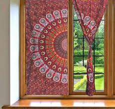 Hippie Drapes Cheap Mandala Curtains On Sale Windows 2 Panel Curtains Indian