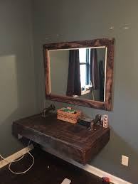 makeup vanity from pallet wood wood working pinterest makeup