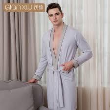 robe de chambre pour homme grande taille qianxiu 2018 peignoir pour homme pur coton grande taille robe