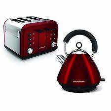 Red Kettle And Toaster Morphy Richards Tea Kettle U0026 Toaster Sets Ebay