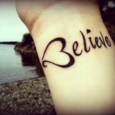 heart believe tattoo on wrist for girls tattooshunt com
