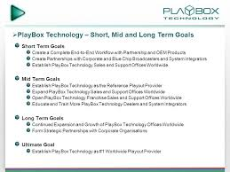 playbox technology corporate presentation ppt download