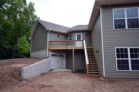 retaining walls and walk out basement details custom homes by