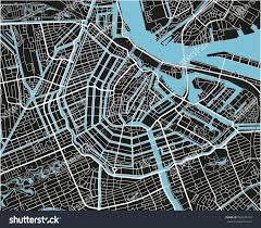 Black And White Map Black White Vector City Map Amsterdam Stock Vector 563345179