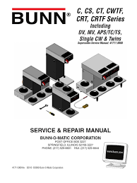 bunn coffee maker cwtf15 service manual thermostat relay