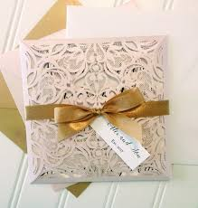 blush pink laser cut wedding invitations pocket style wedding