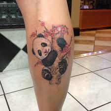 phantom 8 tattoos part calf panda in tree color