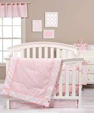trend lab little owl 4 piece crib bedding set pink ebay