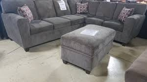 gray sectional with ottoman pewter 2pc sectional ottoman sold separately furniture in