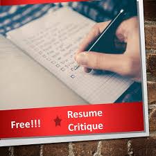 Resume Critique Schedule I Propel You