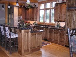 kitchen cabinet ideas rustic kitchen cabinets from knotty alder