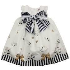 designer childrenswear monnalisa white aristcats baby dress white baby from