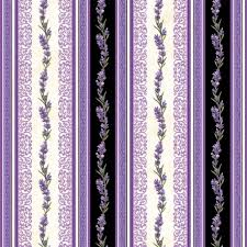 stripe black fabric ornament pattern lavender flower by northcott