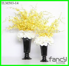 Orchid Flower Arrangements Artificial Orchid Flowers With Glass Vases For Flower Arrangements