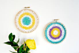 Thick Wall Tapestry Crochet Mandala Hoops Wall Hangings U2013 Mama In A Stitch