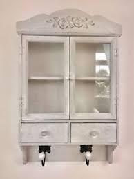 Shabby Chic Wall Cabinets washed grey shabby chic wall unit vintage storage cabinet