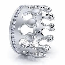 crown diamond rings images Solid 060 carat 7mm comfort fit khaleesi crown diamond wedding band jpg