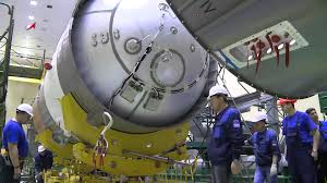 assembly of a soyuz 2 1a launch vehicle with progress ms 02 youtube