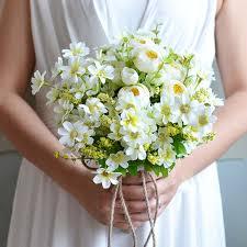 Hydrangea Wedding Aliexpress Com Buy Elegant White Wedding Flowers Artificial