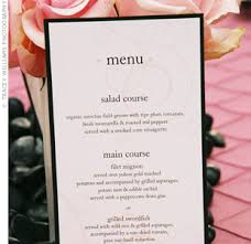 wedding menu cards menu cards do you need them for the wedding reception